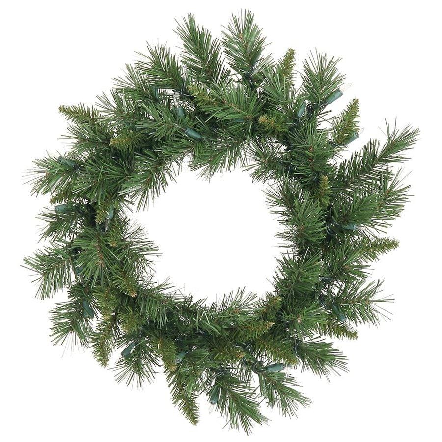 Vickerman 18-in Un-Lit Indoor/Outdoor Green Imperial Pine Artificial Christmas Wreath