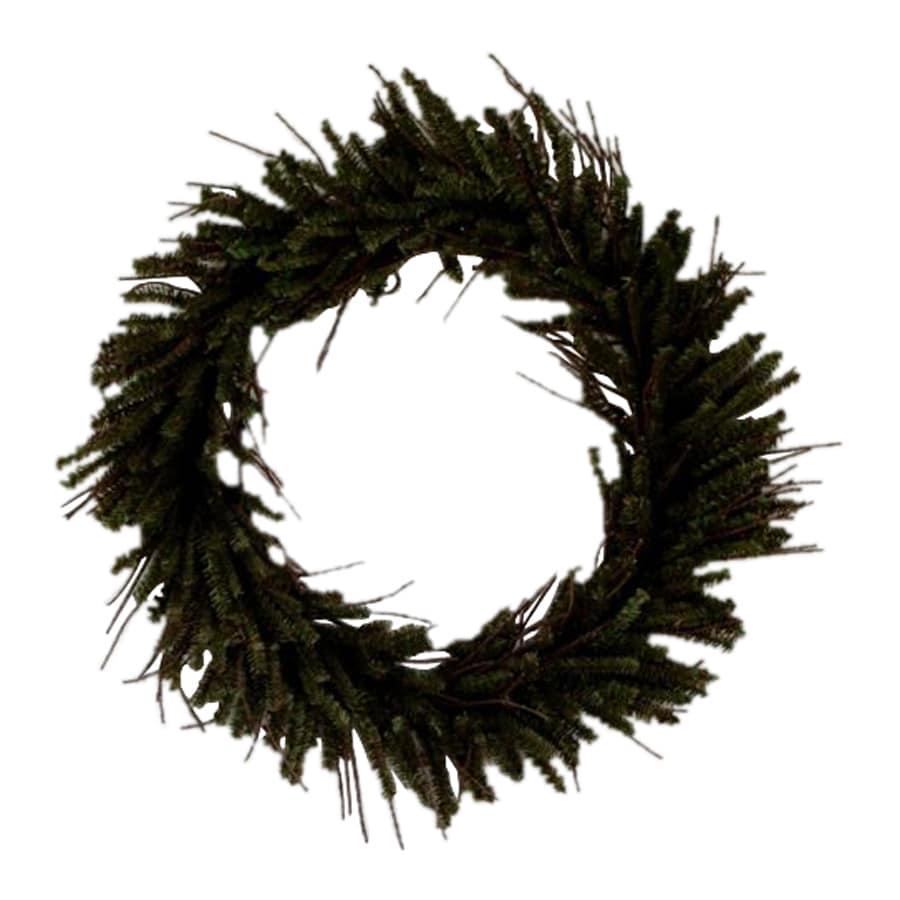 Vickerman 20-in Un-Lit Twig Artificial Christmas Wreath