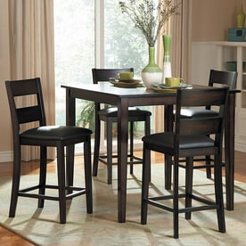 Homelegance Griffin Burnished Brown Dining Set With Counter Height Table