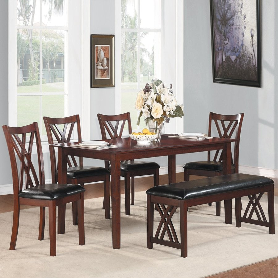 Homelegance Brooksville Cherry 6 Piece Dining Set With Dining Table