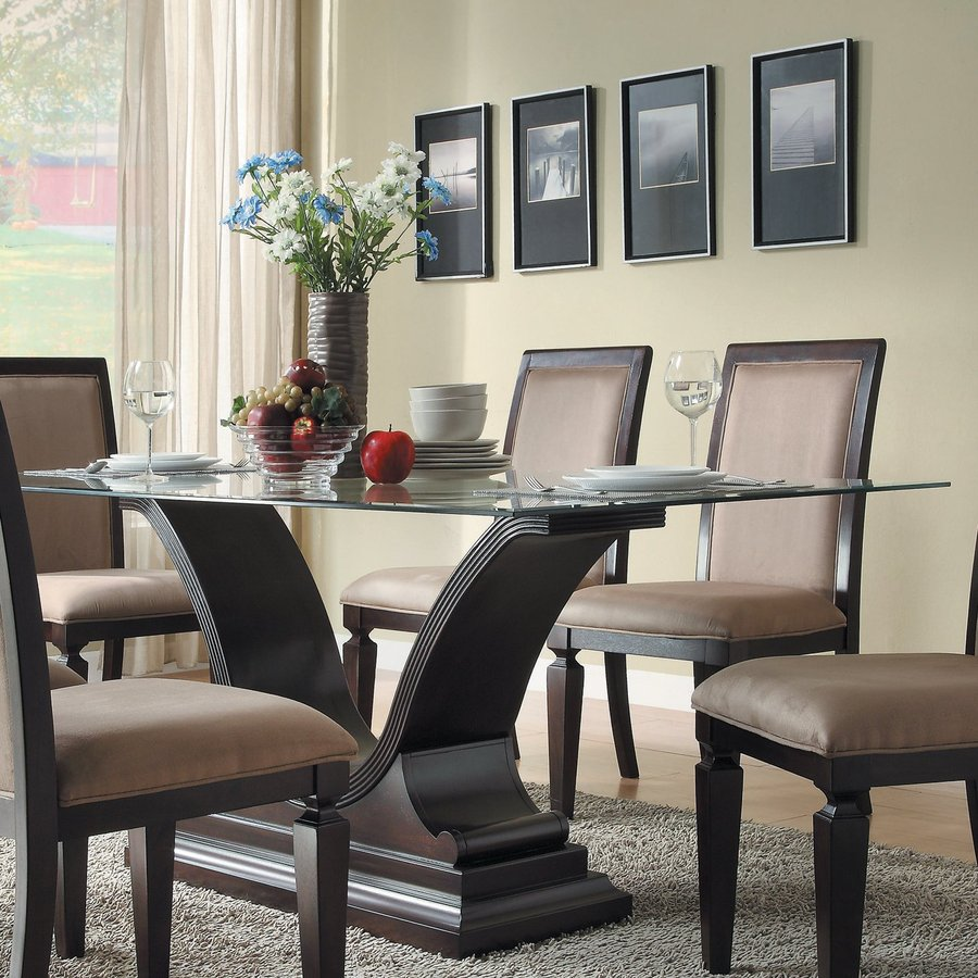 Delightful Homelegance Plano Espresso Rectangular Dining Table