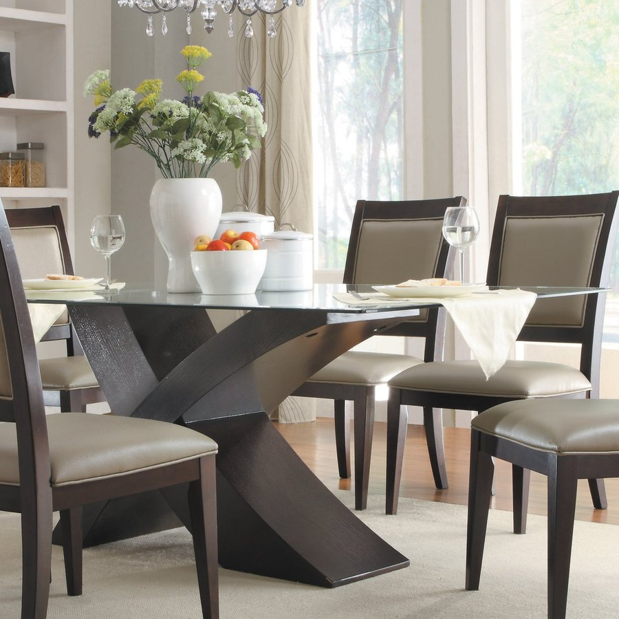 Espresso Rectangular Dining Table Table Design Ideas