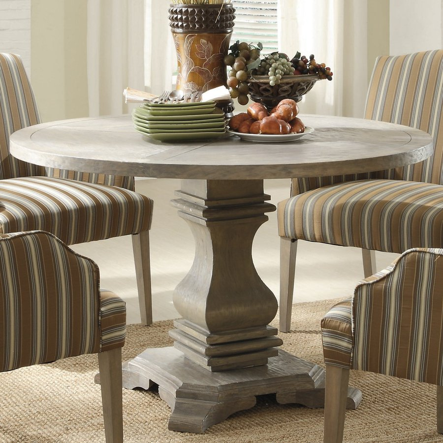 Shop homelegance euro casual weathered birch round dining table at homelegance euro casual weathered birch round dining table workwithnaturefo