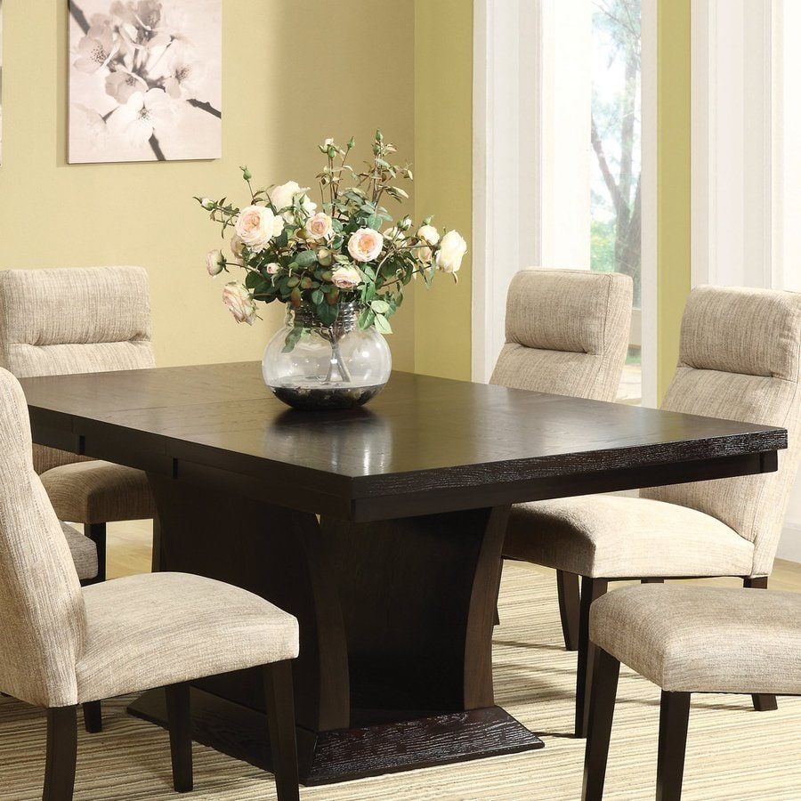 Homelegance Avery Rich Espresso Composite Extending Dining Table At