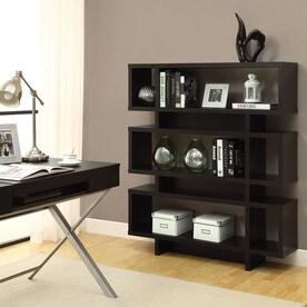 Monarch Specialties Cappuccino Composite 3 Shelf Bookcase