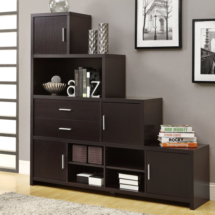 Monarch Specialties Cappuccino 63.1-in 4-Shelf Bookcase