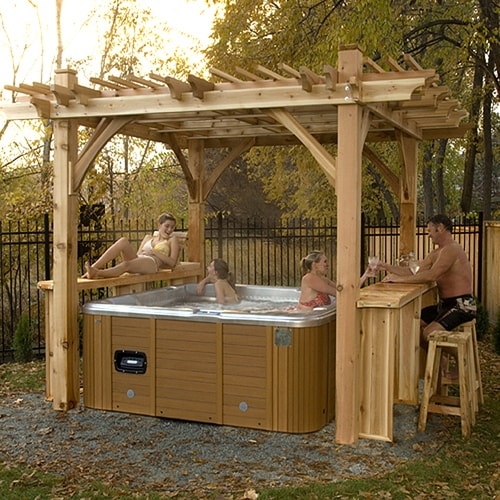 Outdoor Living Today Breeze 9-ft x 9-ft x 9-ft Cedar ... on Lowes Outdoor Living id=11231