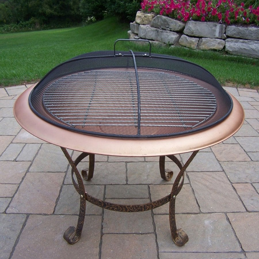 Oakland Living 29.5-in W Antique Bronze Iron Wood-Burning Fire Pit