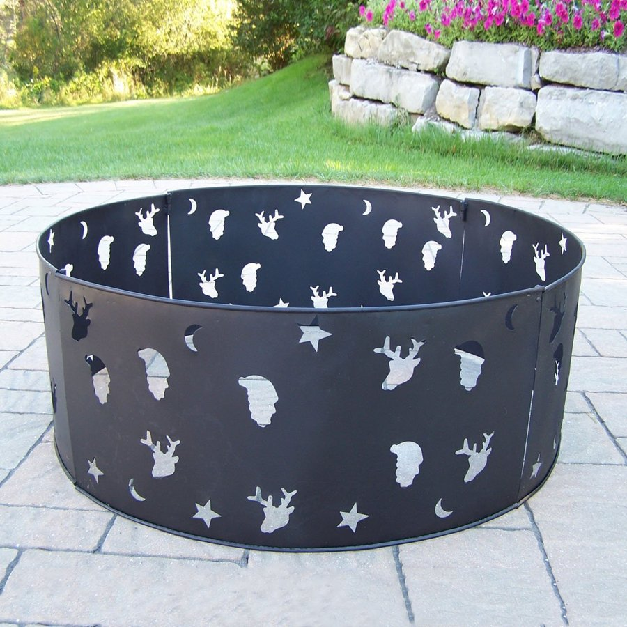 Oakland Living 33-in W Black Iron Wood-Burning Fire Pit