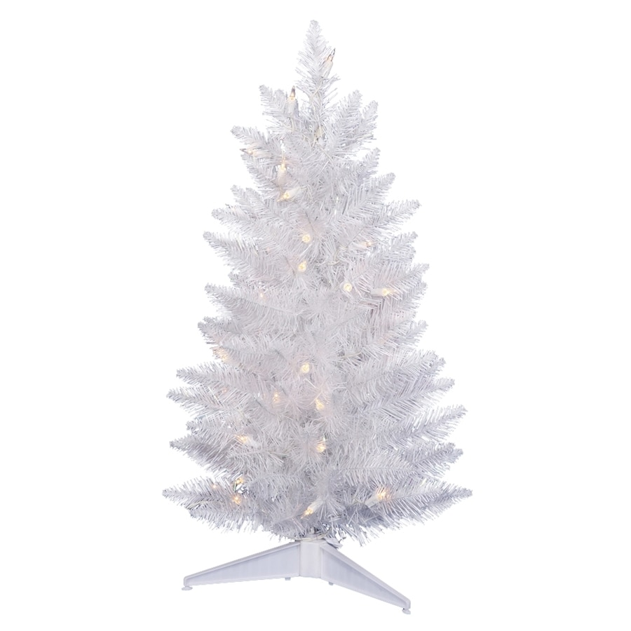 50 Foot Christmas Tree: Vickerman Sparkle White 3-ft 100-Tip Pre-Lit Artificial