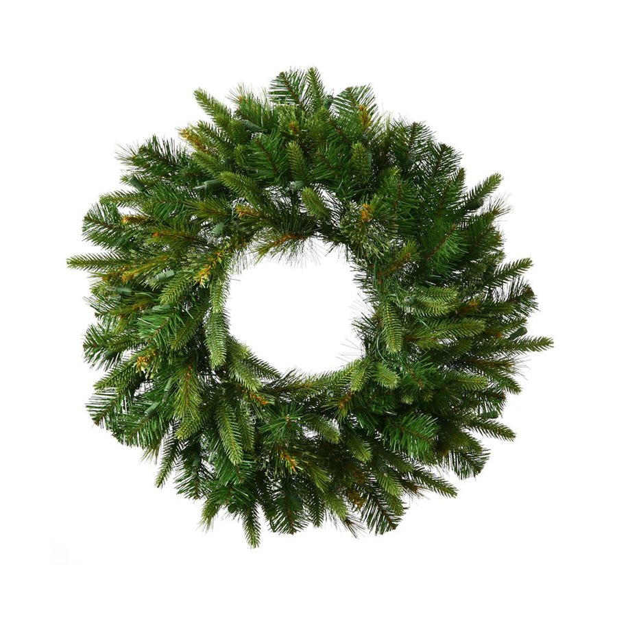 Vickerman 30-in Indoor/Outdoor Green Pine Artificial Christmas Wreath