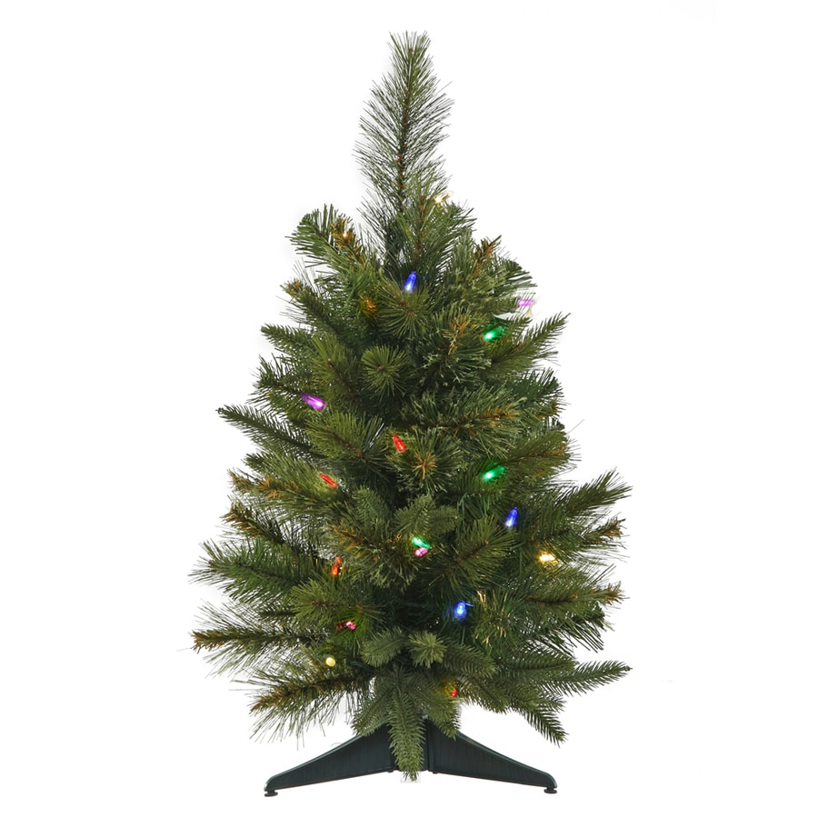Vickerman 2-ft Pre-lit Artificial Christmas Tree with 30 Constant Multicolor LED Lights