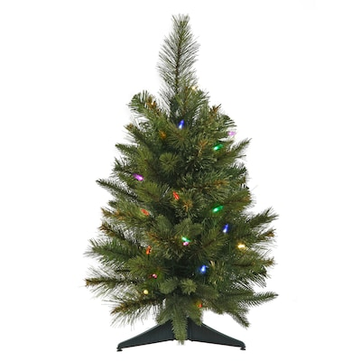 outlet store fe569 c9e6e 2-ft Pre-lit Artificial Christmas Tree with 30 Constant Multicolor LED  Lights