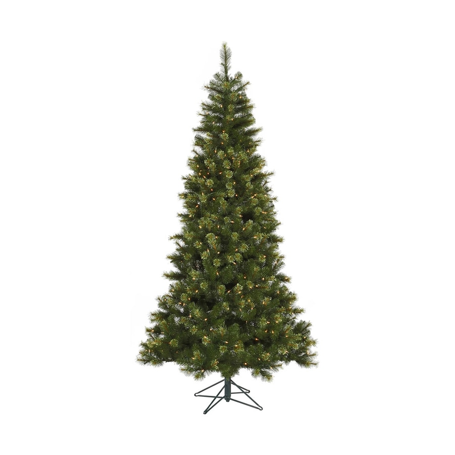 Vickerman 8.5-ft Indoor Pine Pre-Lit Slim Jack Pine Tree with Lights Artificial Christmas Tree with Clear Lights