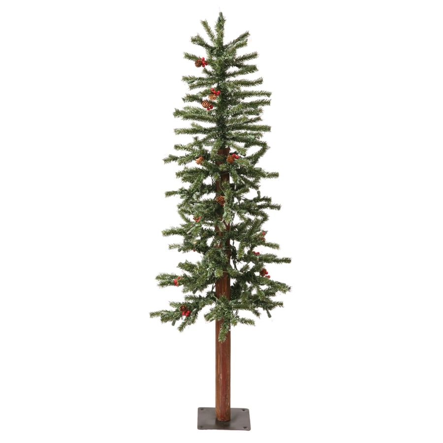 Vickerman 3-ft Pre-Lit Winterberry Slim Artificial Christmas Tree with White Clear Incandescent Lights