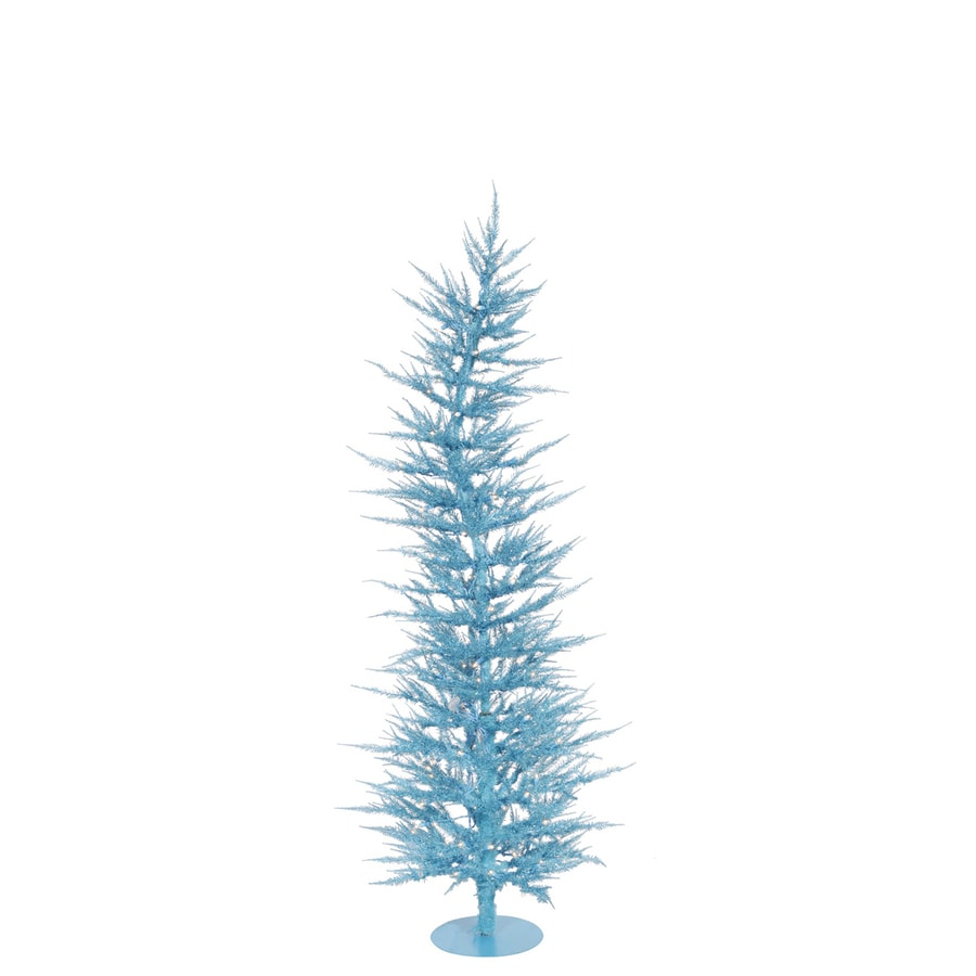 Vickerman Colorful Laser 3-ft Pre-Lit Whimsical Slim Artificial Christmas Tree with Blue Incandescent Lights