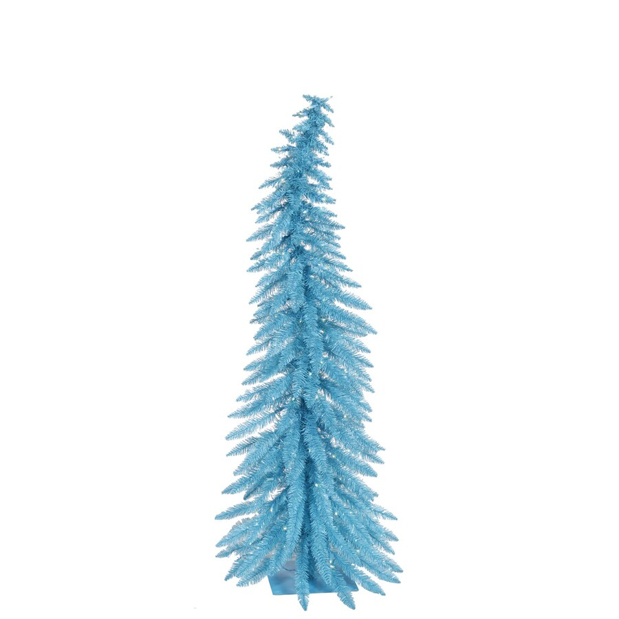 Vickerman 4-ft Indoor Pre-Lit Sky Blue Whimsical Artificial Christmas Tree Blue Lights