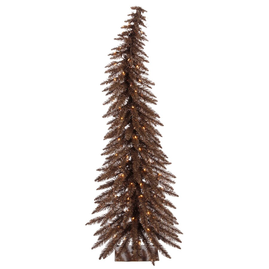 Vickerman Colorful 5-ft Pre-Lit Whimsical Slim Artificial Christmas Tree with Clear White Incandescent Lights