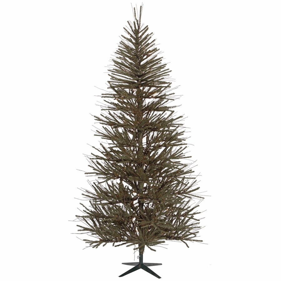 Vickerman 8-ft Unlit Vienna Twig Slim Artificial Christmas Tree