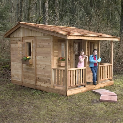Cozy Cabin Wood Playhouse Kit At Lowes
