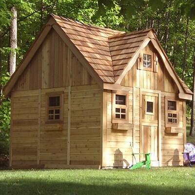 Laurens Cottage Wood Playhouse Kit