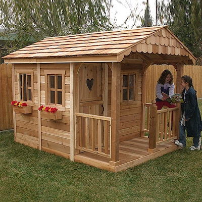 Outdoor Living Today Sunflower Wood Playhouse Kit at Lowes.com on Lowes Outdoor Living id=69445