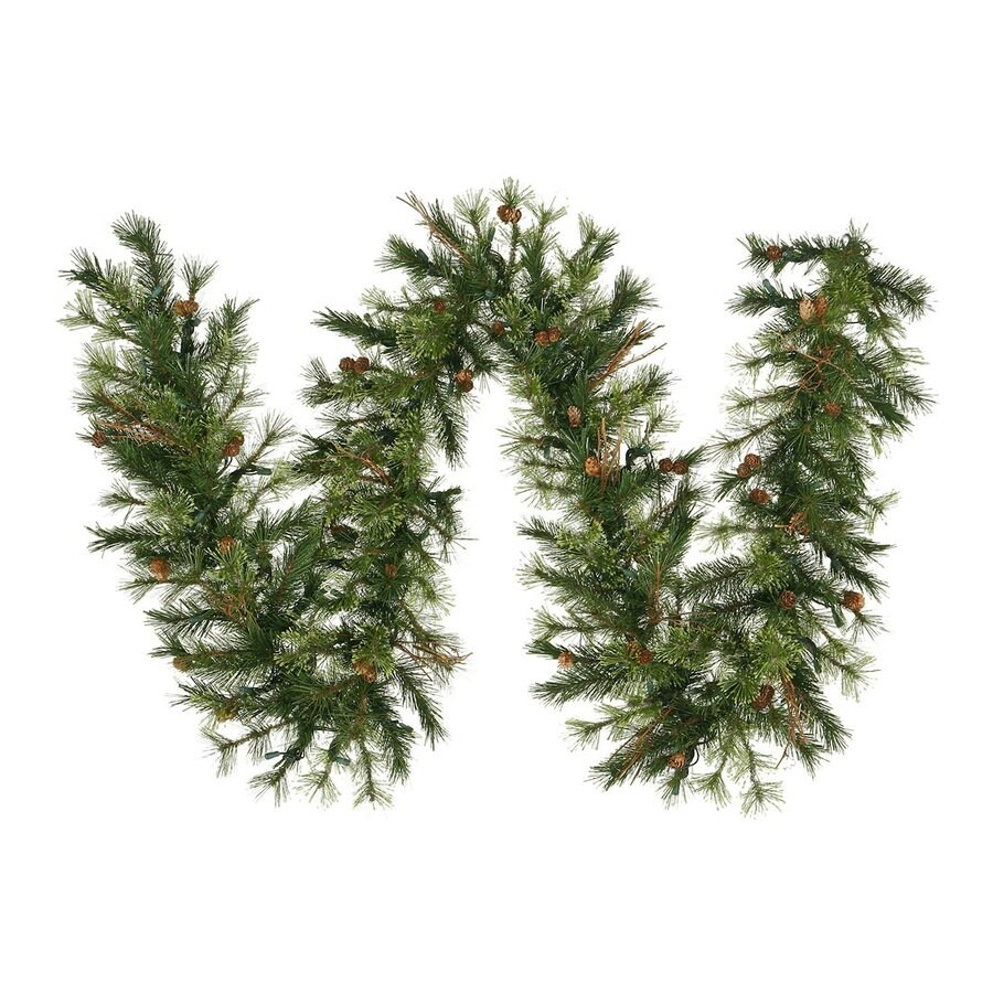 Vickerman 12-in x 9-ft Pine Artificial Christmas Garland
