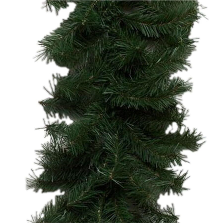 Vickerman Pre-Lit 9-ft L Canadian Pine Garland with White Incandescent Lights