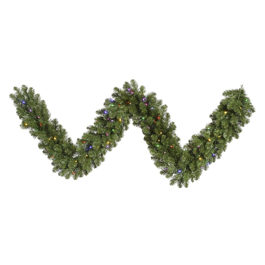 Vickerman Pre-Lit 9-ft L Grand Teton Garland with Multicolor LED Lights
