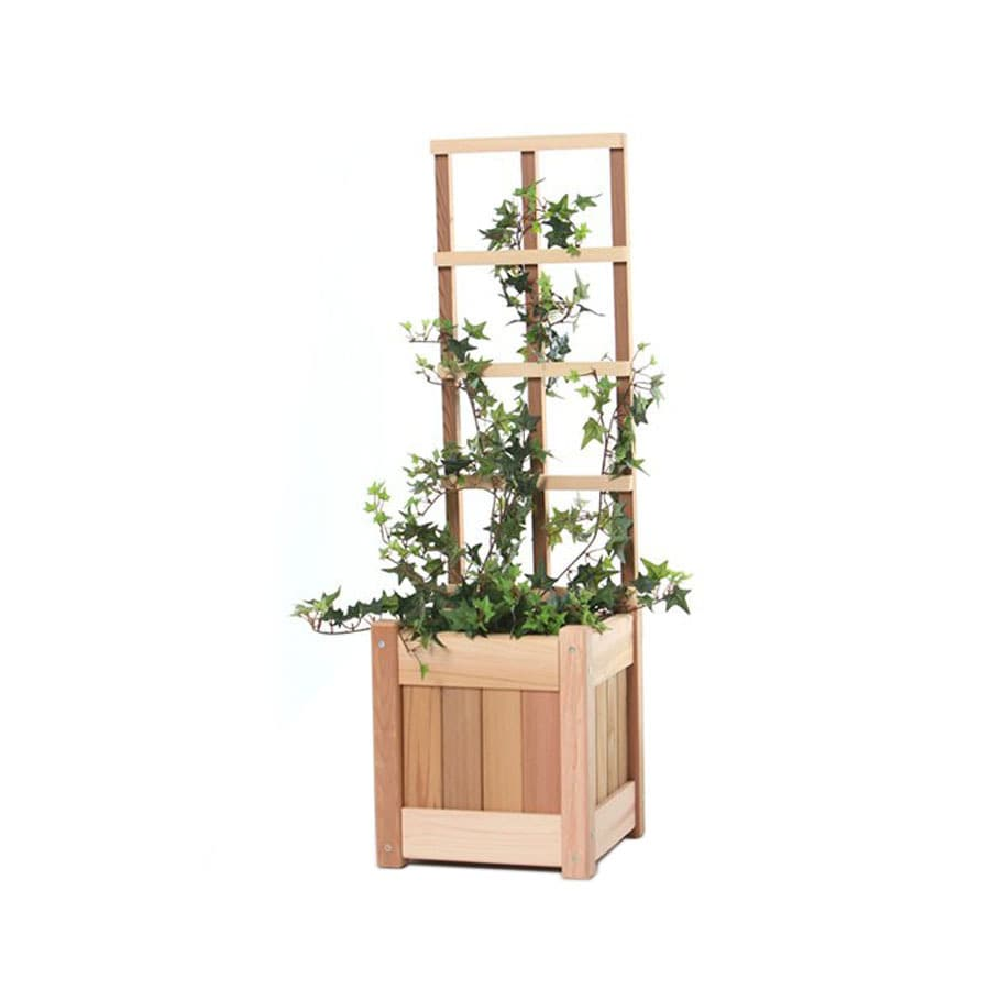 All Things Cedar 10-in W x 36-in H Natural Utilitarian Garden Trellis