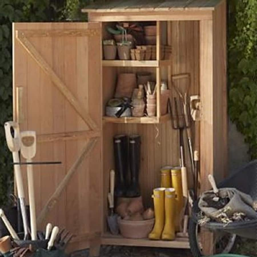 All Things Cedar Lean-To Cedar Wood Storage Shed (Common: 3-ft x 2-ft; Interior Dimensions: 2-ft 7.5-in x 1-ft 8-in)