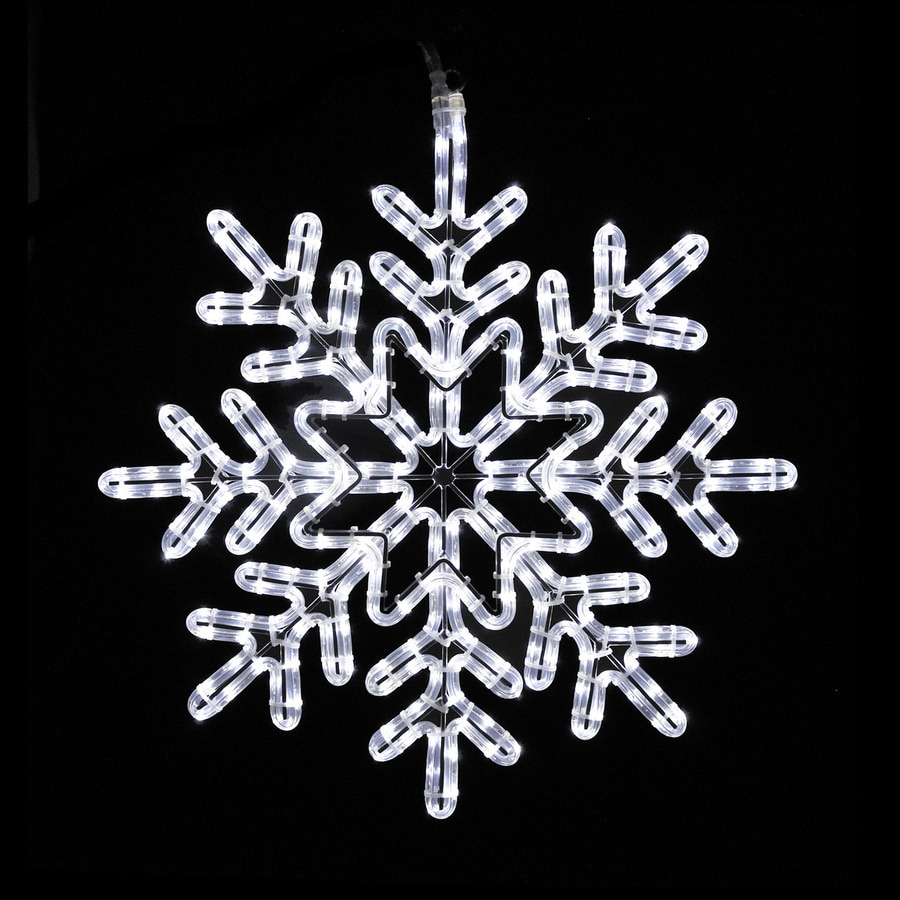 Holiday Lighting Specialists 24-in Snowflake Outdoor Christmas Decoration with LED White Lights
