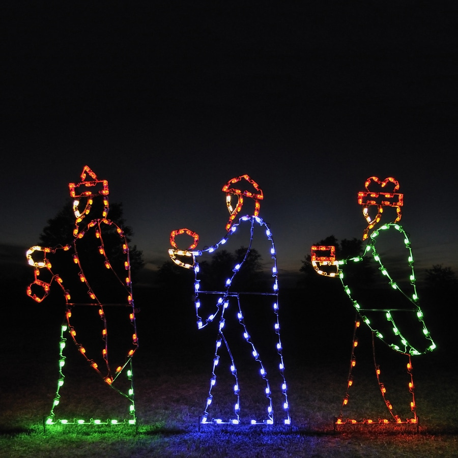 Holiday Lighting Specialists 7-ft 3 Wise Men Outdoor ...