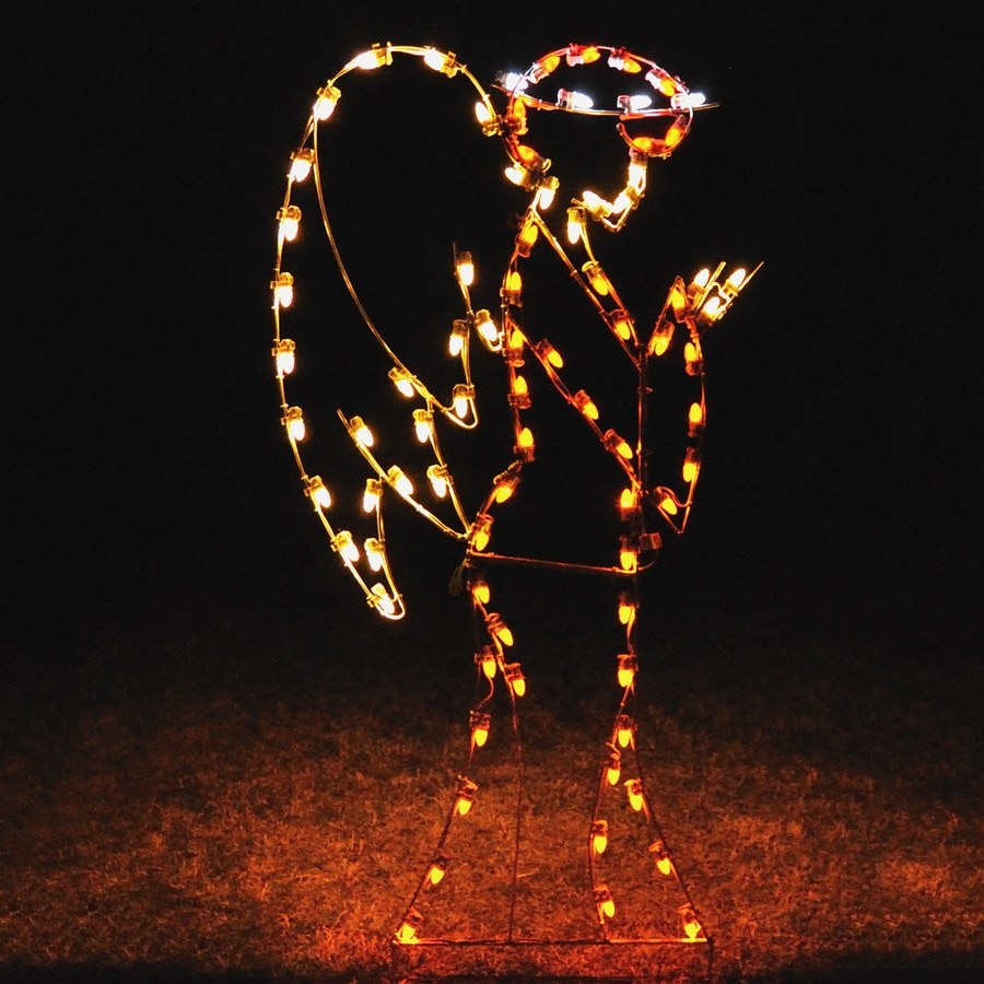holiday lighting specialists 675 ft angel outdoor christmas decoration with led multicolor lights - Lowes Outside Christmas Decorations