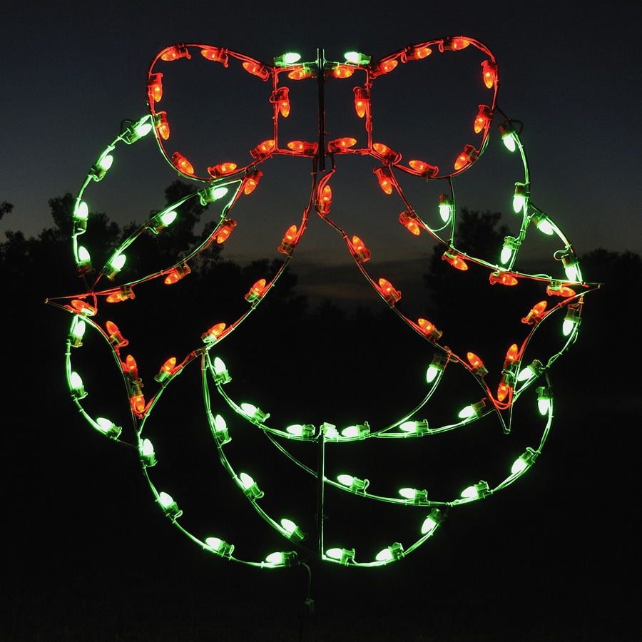 Holiday Lighting Specialists 4-ft Wreath Outdoor Christmas Decoration with LED Multicolor Lights