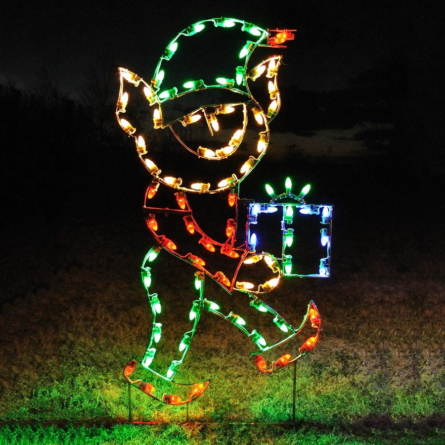 holiday lighting specialists 542 ft helper elf outdoor christmas decoration with led multicolor lights - Elf Outdoor Christmas Decorations