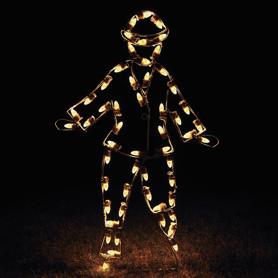 Holiday Lighting Specialists 4.42-ft Victorian Skating Boy Outdoor Christmas Decoration with LED White Lights
