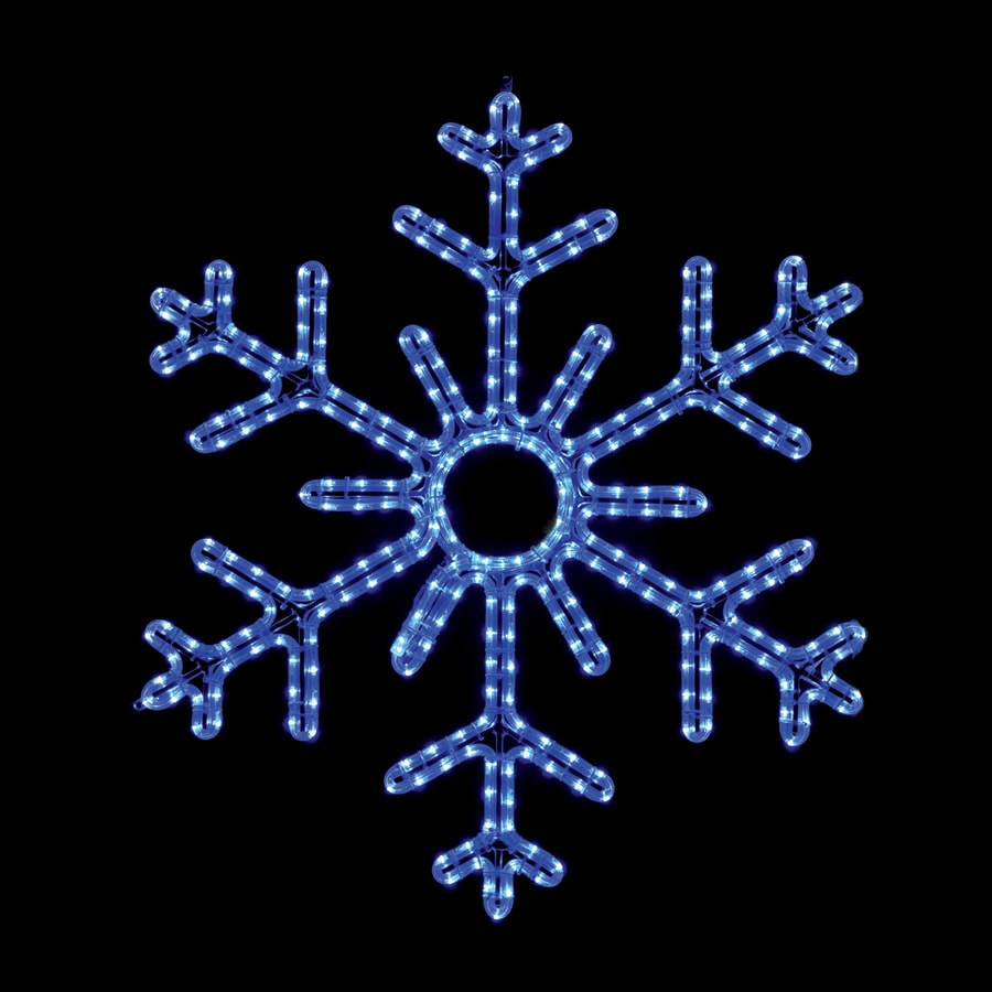 holiday lighting specialists 3 ft snowflake outdoor christmas decoration with with led blue lights lights