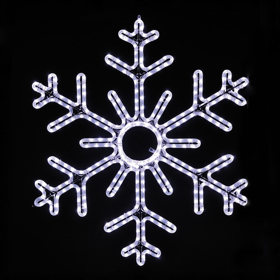 Holiday Lighting Specialists 3-ft Snowflake Outdoor Christmas Decoration with LED White Lights