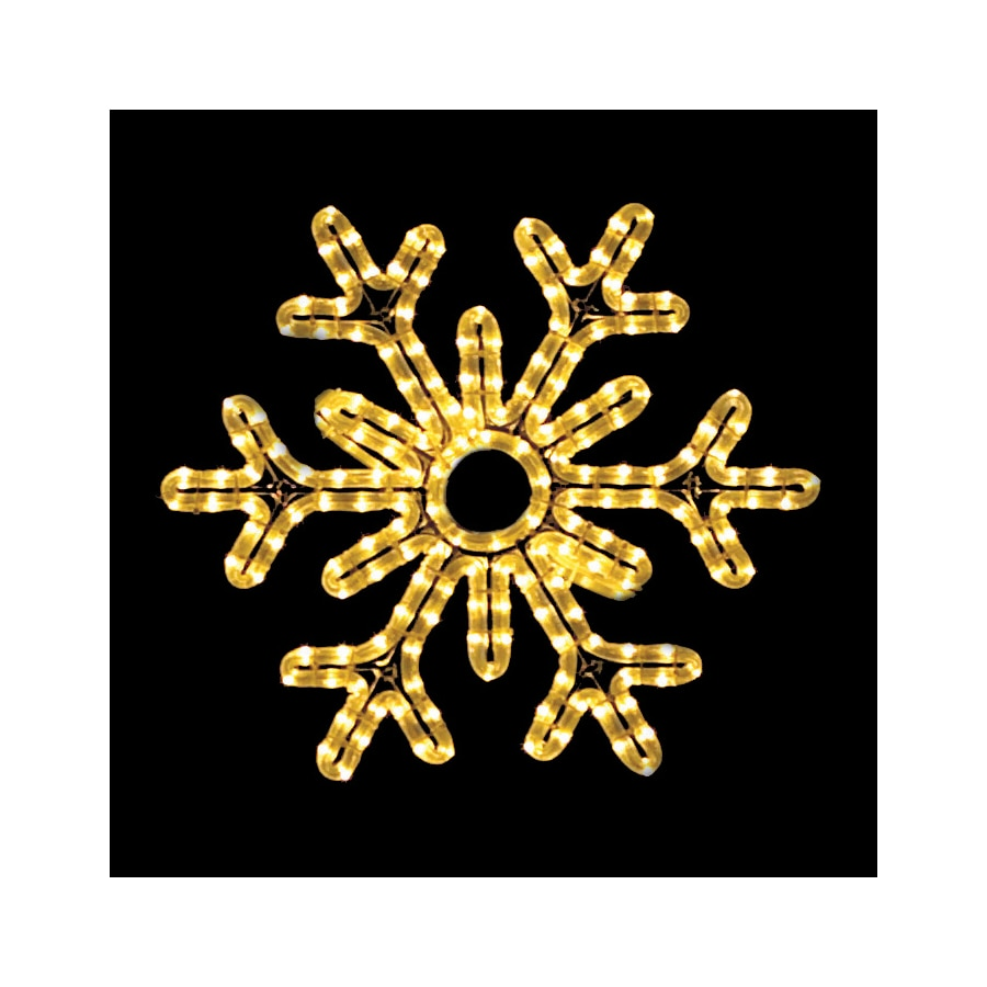 Holiday Lighting Specialists 1.5-ft Point Snowflake Outdoor Christmas Decoration with LED White Lights