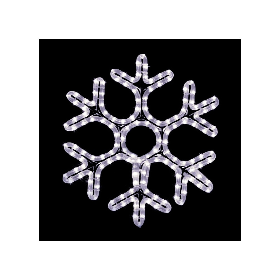Holiday Lighting Specialists 1.5-ft Hexagon Snowflake Outdoor Christmas Decoration with LED White Lights