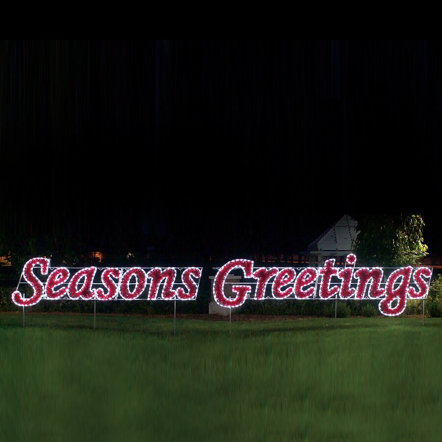 Holiday Lighting Specialists 5.7-ft Seasons Greetings Outdoor Christmas Decoration with LED Multicolor Lights