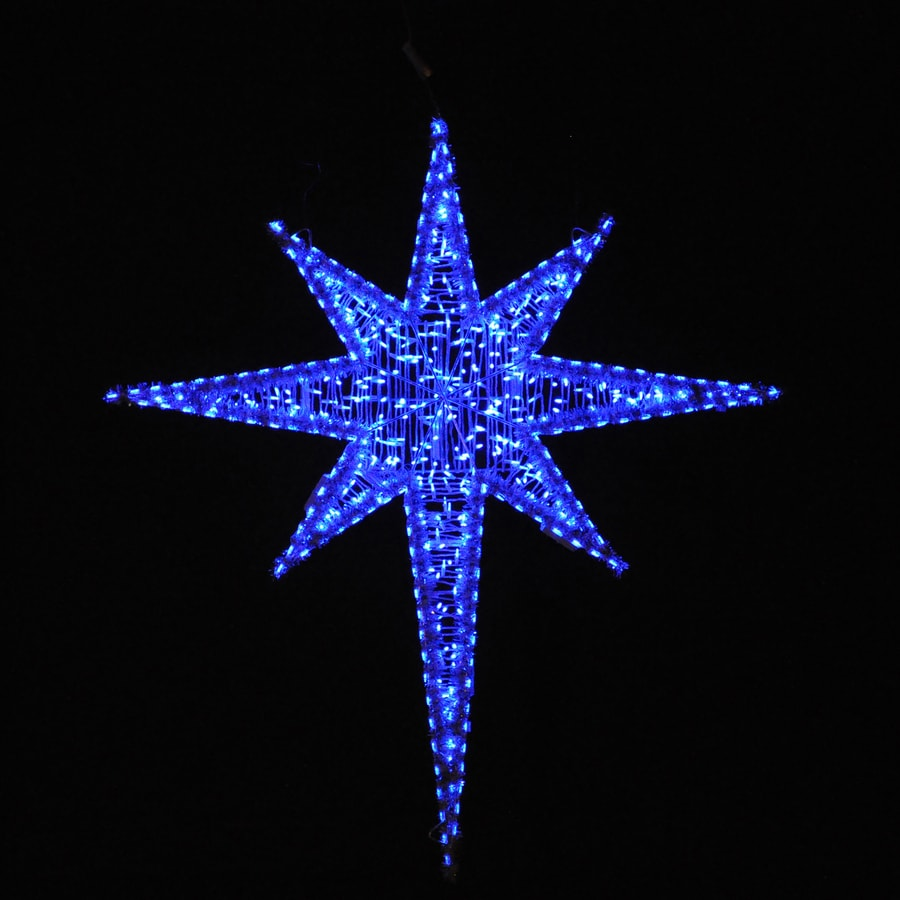 holiday lighting specialists 625 ft moravian star outdoor christmas decoration with led blue lights