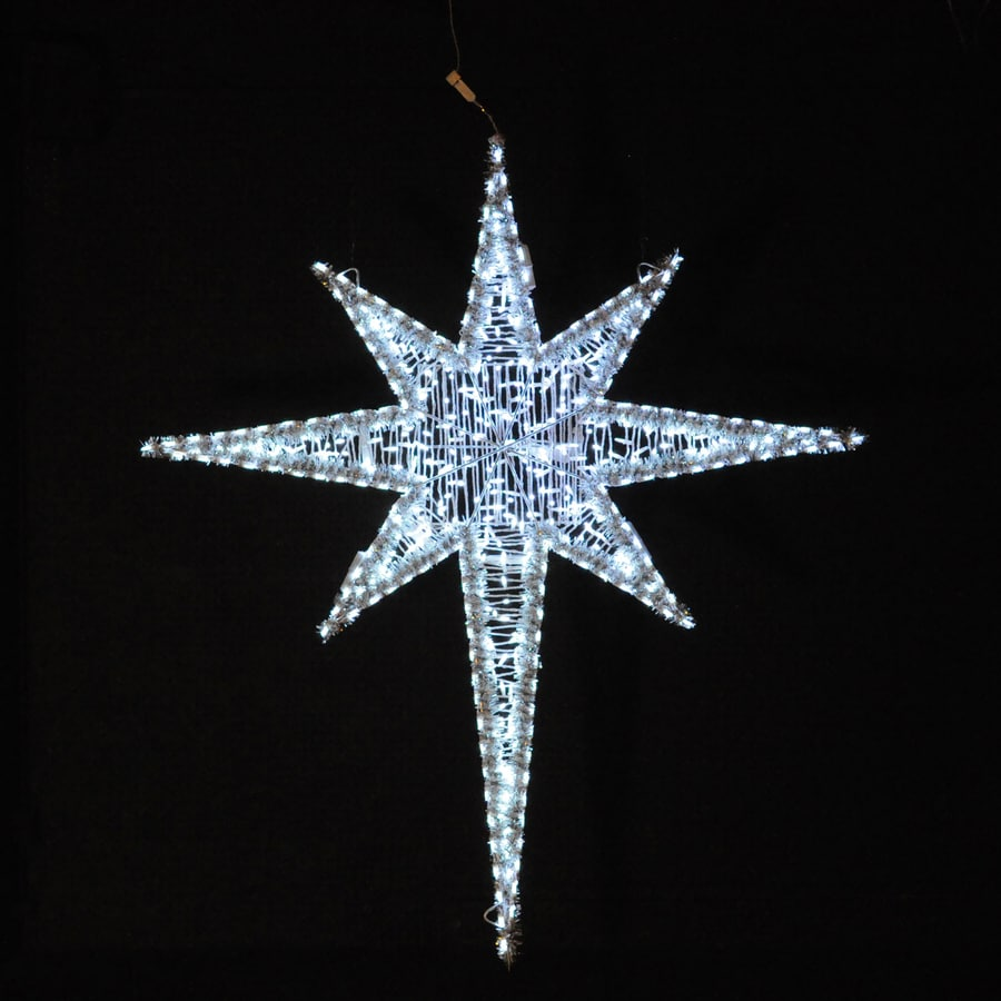 Holiday Lighting Specialists 6.25-ft Moravian Star Outdoor Christmas Decoration with LED White Lights
