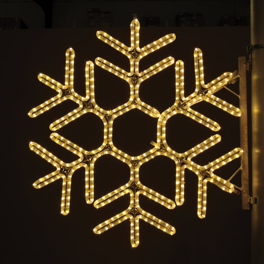 Shop holiday lighting specialists 3 ft hexagon snowflake - Snowflake exterior christmas lights ...