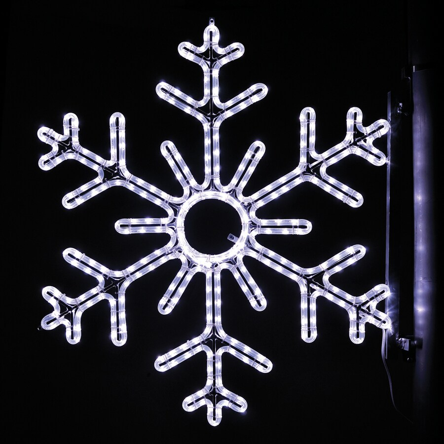 holiday lighting specialists 3 ft point snowflake pole decoration outdoor christmas decoration with led white