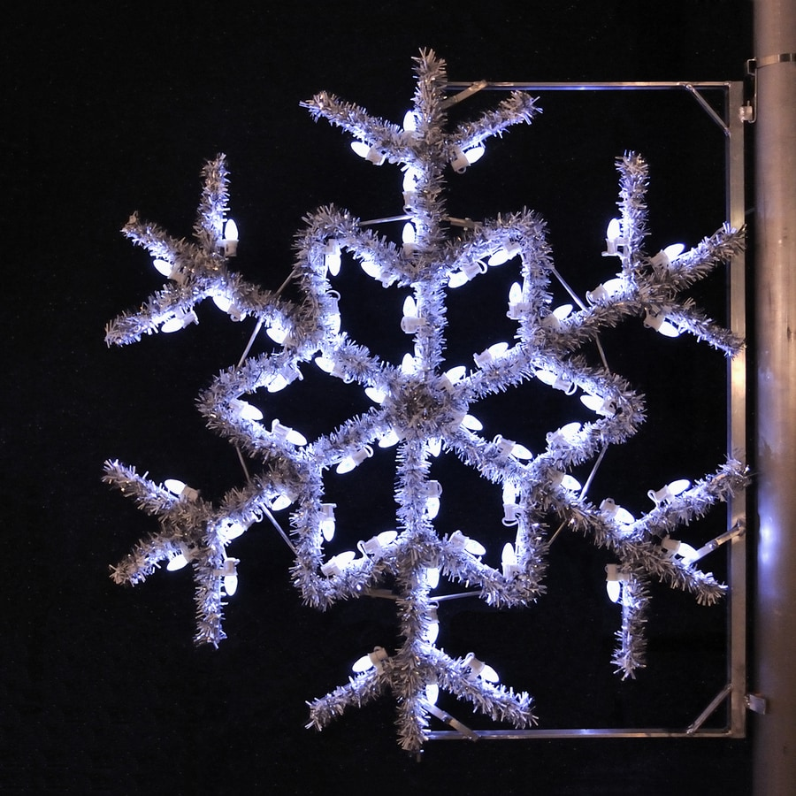 Shop holiday lighting specialists 4 ft garland snowflake for Led christmas decorations