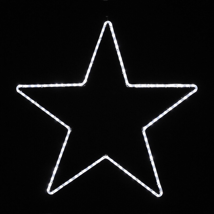 Holiday Lighting Specialists 3.25-ft Large Point Star Outdoor Christmas Decoration with LED White Lights