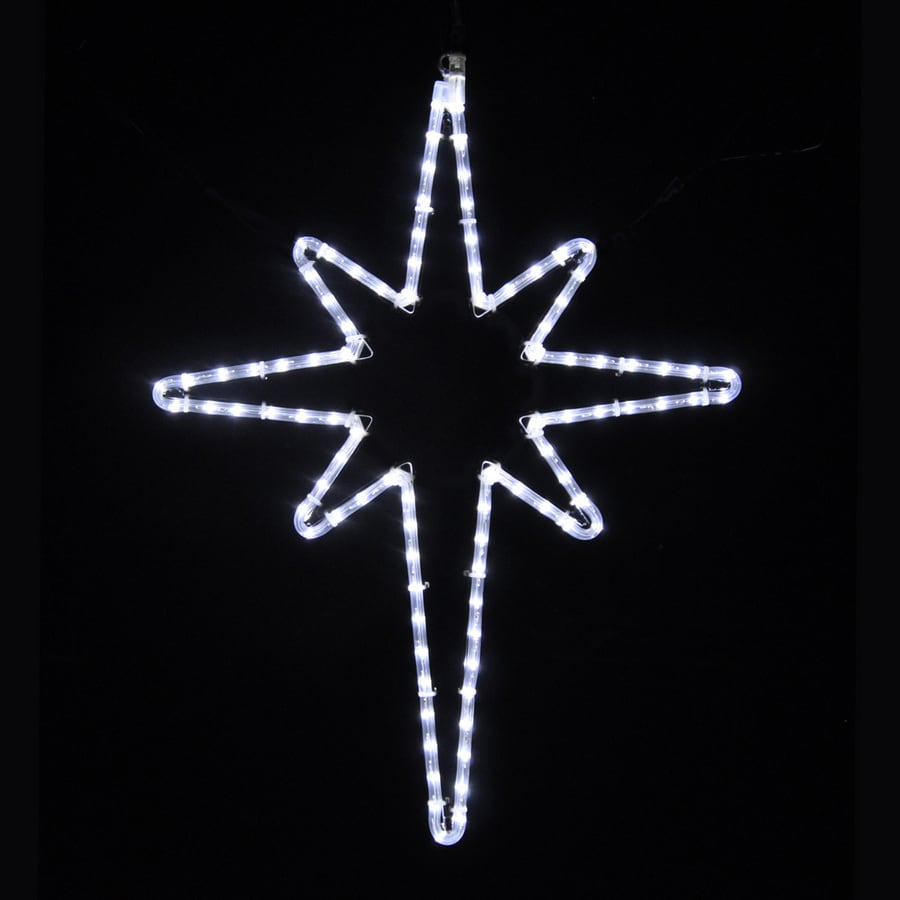 holiday lighting specialists 258 ft star of bethlehem outdoor christmas decoration with led white lights - Outdoor Christmas Star Decoration