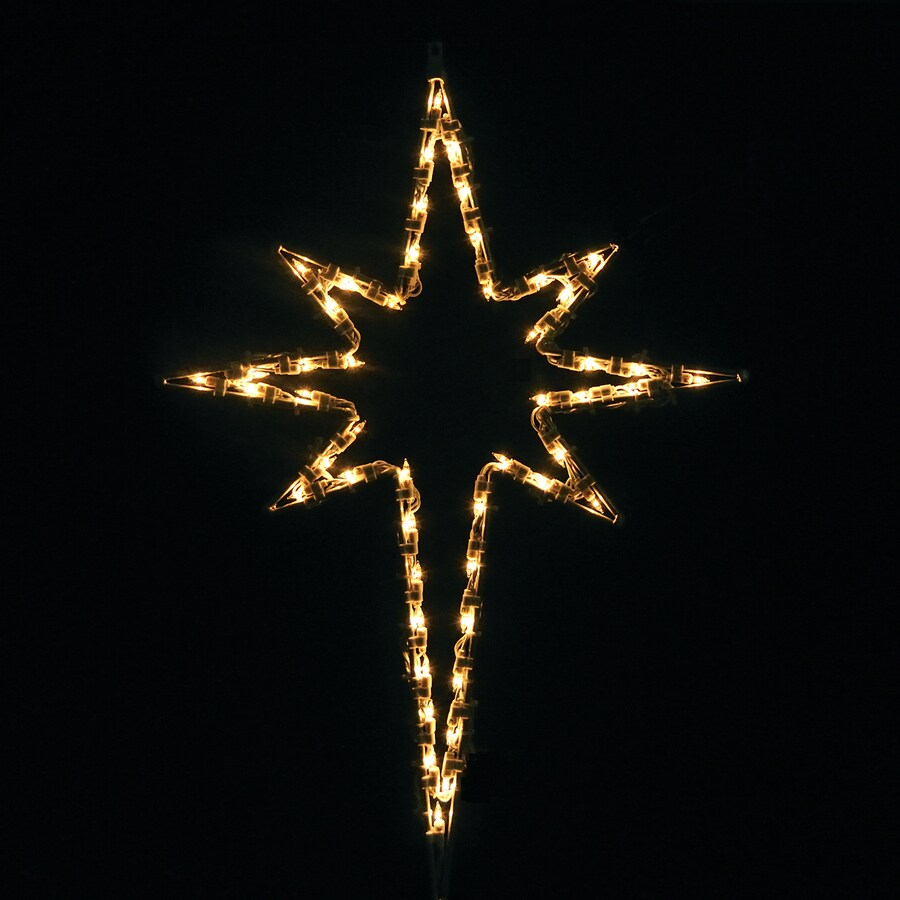 holiday lighting specialists 25 ft small star of bethlehem outdoor christmas decoration with incandescent white